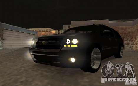 Chevrolet Suburban 2010 для GTA San Andreas вид изнутри