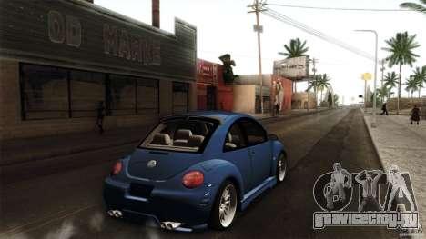 Volkswagen Beetle RSi Tuned для GTA San Andreas вид сзади слева