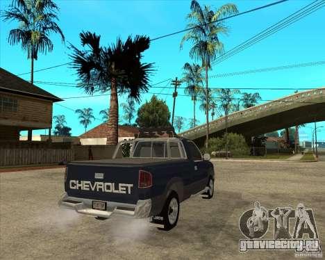 1996 Chevrolet Blazer pickup для GTA San Andreas вид сзади слева