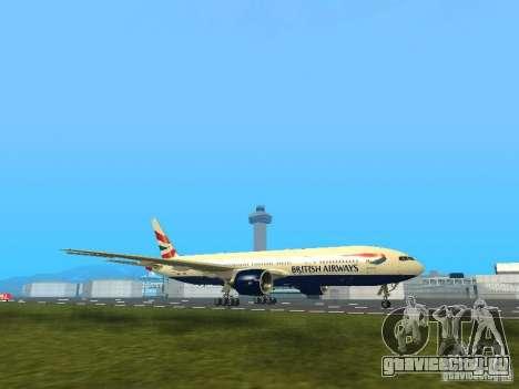 Boeing 777-200 British Airways для GTA San Andreas вид слева