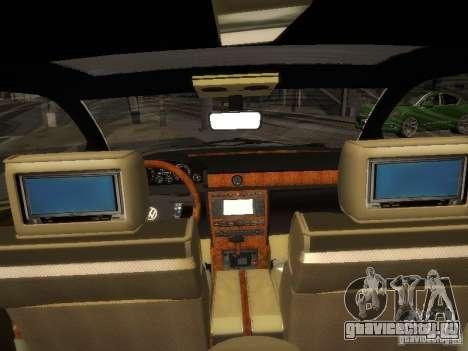 Volkswagen Phaeton W12 для GTA San Andreas вид сзади
