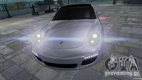Porsche Targa 4S 2009 для GTA 4 вид сзади