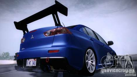 Mitsubishi Lancer Evolution X Tunable для GTA San Andreas вид слева