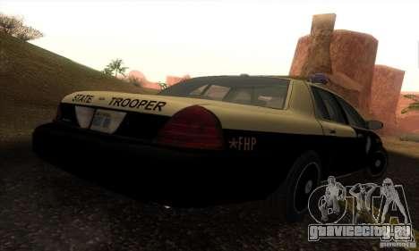 Ford Crown Victoria Florida Police для GTA San Andreas вид слева