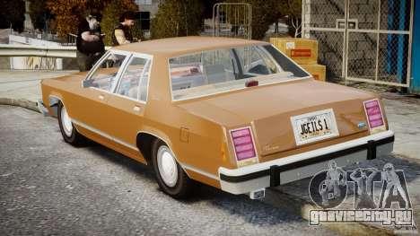 Ford Crown Victoria 1983 для GTA 4 вид сверху