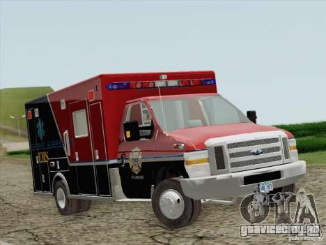 Ford E-350 AMR. Bone County Ambulance для GTA San Andreas вид слева