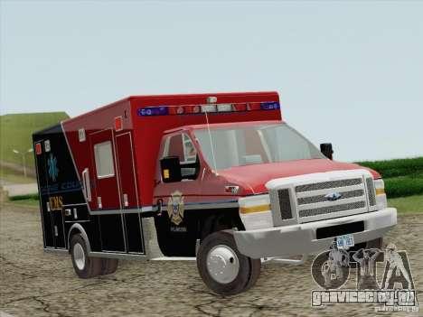 Ford E-350 AMR. Bone County Ambulance для GTA San Andreas вид слева
