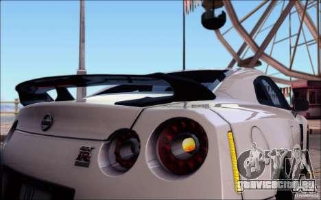 Nissan GTR Egoist 2011 (Версия с грязью) для GTA San Andreas двигатель