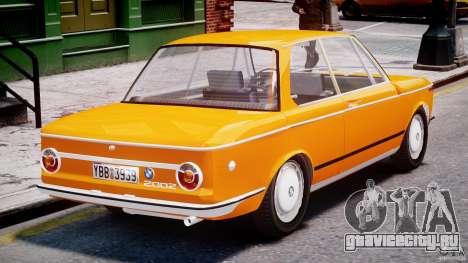 BMW 2002 1972 для GTA 4 вид сверху