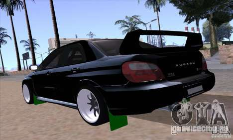 Subaru Impresa WRX light tuning для GTA San Andreas вид слева