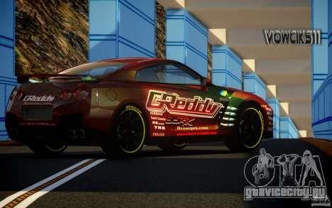 Nissan GT-R Black Edition GReddy для GTA 4 вид слева