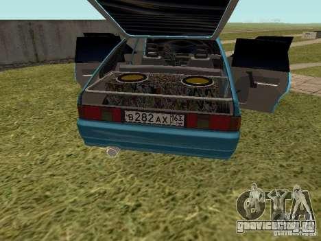 Москвич 2141 для GTA San Andreas вид снизу