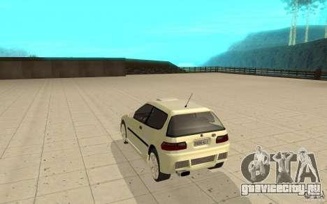 Honda Civic 1992 для GTA San Andreas вид сзади слева