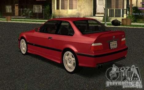 BMW E36 M3 1997 Coupe Forza для GTA San Andreas вид сзади слева
