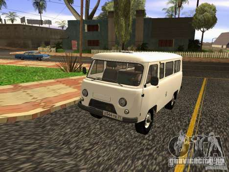 УАЗ 2206 для GTA San Andreas вид изнутри