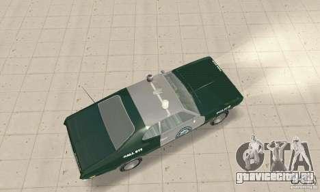 Plymouth Duster 340 Police для GTA San Andreas вид сзади слева