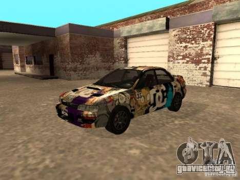 Subaru Impreza WRX STI 1995 для GTA San Andreas вид сбоку
