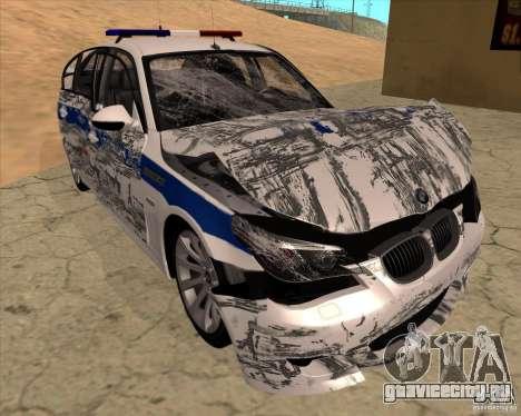 BMW M5 E60 ДПС для GTA San Andreas салон