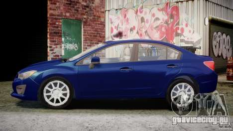 Subaru Impreza Sedan 2012 для GTA 4 вид слева
