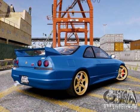 Nissan Skyline R33 GTR V-Spec для GTA 4 вид слева
