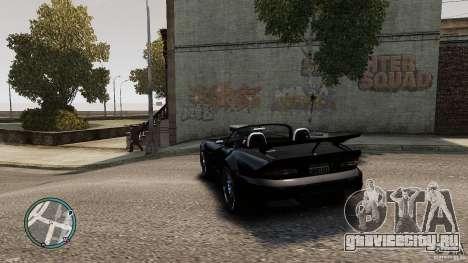 Blue Neon Banshee для GTA 4 вид сзади слева