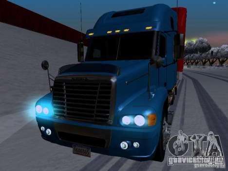 Freightliner Century для GTA San Andreas вид изнутри