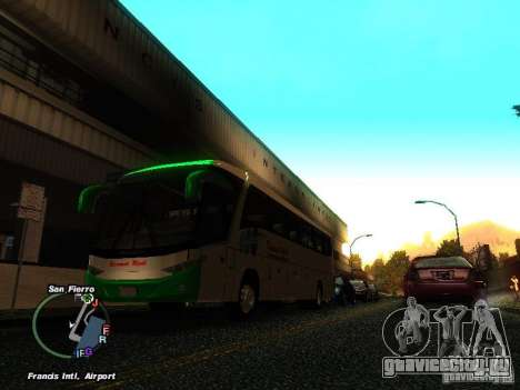 Bus Kramat Djati для GTA San Andreas вид слева