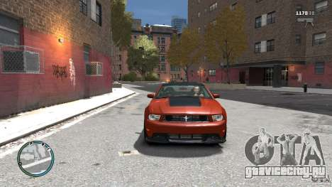 Ford Mustang Boss 302 2012 для GTA 4 вид сзади