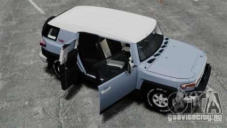 Toyota FJ Cruiser для GTA 4 вид сверху