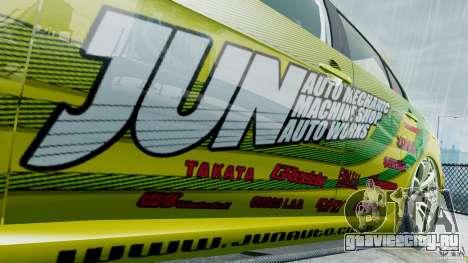 Mitsubishi Lancer X JUN для GTA 4 вид сзади