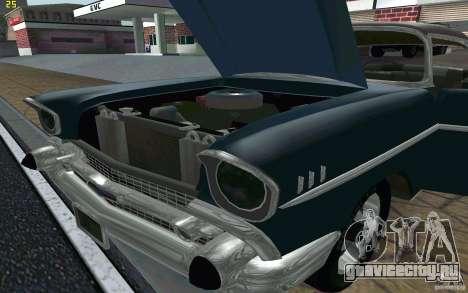 Chevrolet Bel Air 1957 для GTA San Andreas вид изнутри