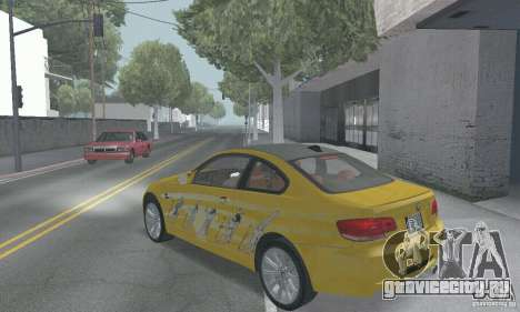 BMW M3 E92 Stock для GTA San Andreas салон