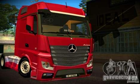 Mercedes-Benz Actros 2012 для GTA San Andreas вид сзади слева