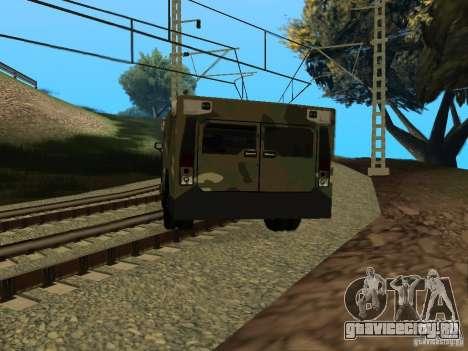 Hummer H2 Army для GTA San Andreas вид слева