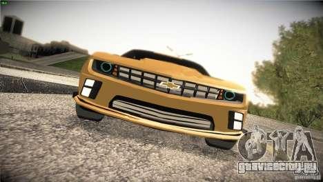 Chevrolet Camaro SS Transformers 3 для GTA San Andreas вид изнутри