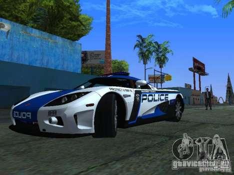 Koenigsegg CCX Police для GTA San Andreas вид слева