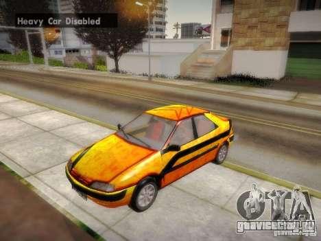 Citroën Xantia для GTA San Andreas вид сверху