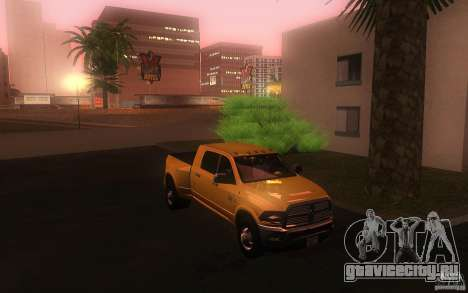 Dodge Ram 3500 Laramie 2010 для GTA San Andreas вид сзади