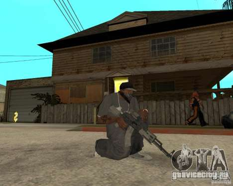 AK47 со штатным оптическим прицелом для GTA San Andreas второй скриншот