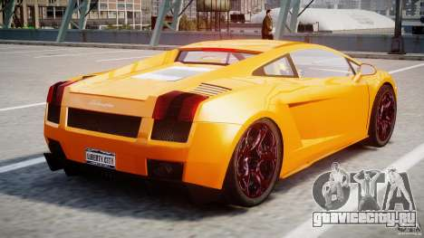 Lamborghini Gallardo Superleggera для GTA 4 вид справа
