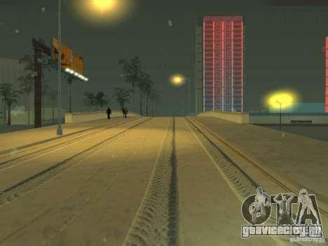 Снег v2.0 для GTA San Andreas четвёртый скриншот