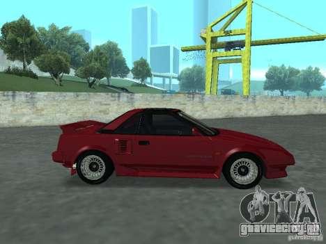 Toyota MR2 для GTA San Andreas вид сзади слева