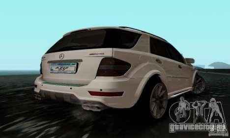 Mercedes Benz ML63 AMG для GTA San Andreas вид слева