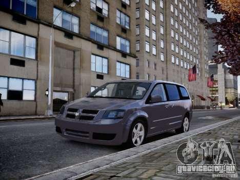 Dodge Grand Caravan SXT 2008 для GTA 4 вид сзади слева