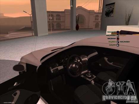 BMW M3 для GTA San Andreas вид сзади
