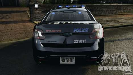Ford Taurus 2010 Atlanta Police [ELS] для GTA 4 салон