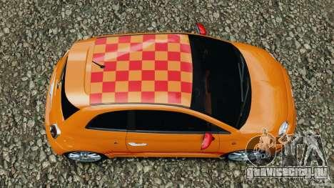 Fiat 500 Abarth для GTA 4 вид справа
