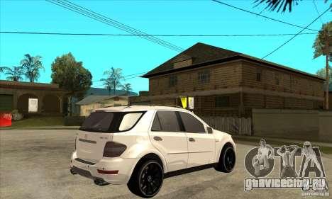 Mercedes-Benz ML 63 для GTA San Andreas вид справа