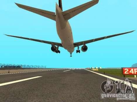 Boeing 777-200 Singapore Airlines для GTA San Andreas вид сзади