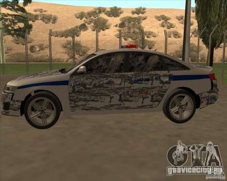 Audi RS6 2010 ДПС для GTA San Andreas салон